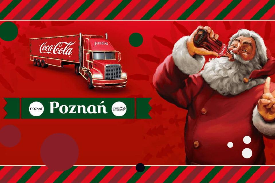 Świąteczna ciężarówka Coca-Cola w Poznaniu